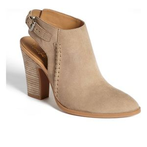 FRANCO SARTO Adesso' Tan Suede Leather Bootie 5.5